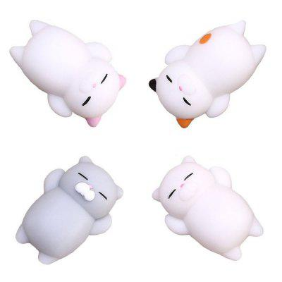 Kawaii Cute Mini Cat Slow Rising Soft Squishy Stress Reliever Decompression Toy para Crianças Fidget Toy Gift 4PCS