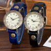 Vintage Cow Leather BraceletWomen WristWatch Casual Luxury Quartz - BLUE