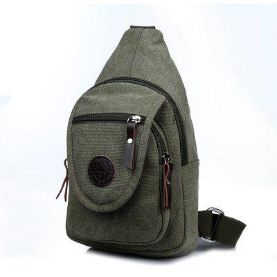Solid Color Canvas Small Chest Pockets Messenger Bag Shoulder BagCrossbody Bags<br>Solid Color Canvas Small Chest Pockets Messenger Bag Shoulder Bag<br><br>Closure Type: Zipper<br>Gender: For Men<br>Handbag Type: Crossbody bag<br>Main Material: Nylon<br>Occasion: Versatile<br>Package Contents: 1 X Messenger Bag<br>Package size (L x W x H): 19.00 x 11.00 x 33.00 cm / 7.48 x 4.33 x 12.99 inches<br>Package weight: 0.5000 kg<br>Pattern Type: Solid<br>Product size (L x W x H): 18.00 x 10.00 x 32.00 cm / 7.09 x 3.94 x 12.6 inches<br>Product weight: 0.4000 kg<br>Style: Vintage