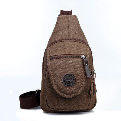 Solid Color Canvas Bolsos pequenos no peito Messenger Bag Shoulder Bag