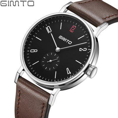 GIMTO Fashion Men Watches Top Brand Luxury Leather Waterproof Quartz Men Wrist Watch Male Clock Relogio Masculino SAATMens Watches<br>GIMTO Fashion Men Watches Top Brand Luxury Leather Waterproof Quartz Men Wrist Watch Male Clock Relogio Masculino SAAT<br><br>Band material: Genuine Leather<br>Case material: Metal<br>Clasp type: Pin buckle<br>Display type: Analog<br>Movement type: Quartz watch<br>Package Contents: 1 x Watch<br>Package size (L x W x H): 26.00 x 4.20 x 1.20 cm / 10.24 x 1.65 x 0.47 inches<br>Package weight: 0.5800 kg<br>Product size (L x W x H): 24.50 x 4.00 x 0.90 cm / 9.65 x 1.57 x 0.35 inches<br>Product weight: 0.4800 kg<br>Shape of the dial: Round<br>Special features: Decorative sub-dial, Stopwatch<br>Watch style: Fashion, Business, Casual<br>Watches categories: Men,Male table<br>Water resistance: Life water resistant