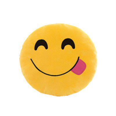 Emoticon Round Cushion Stuffed Plush Soft Pillow