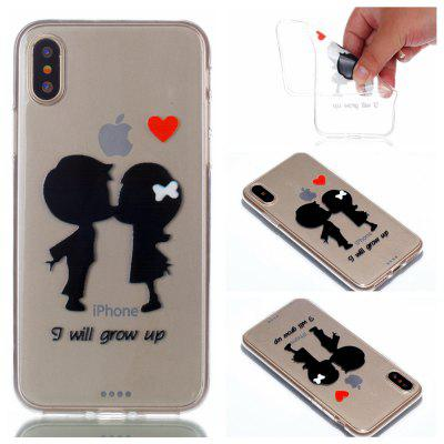 Case for iPhone X Innocent Playmates Painted Relief Soft Clear TPU Smartphone Cover Shell
