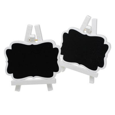 170928 White Wooden Frame Small Blackboard Removable Wooden Crafts Wedding Decoration (10 Pack)
