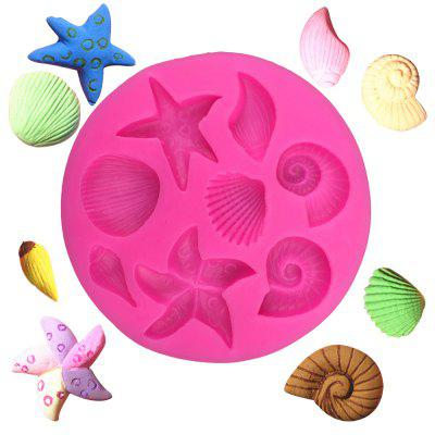 3D Starfish Sea Shells Animal Silicone Mould Fondant Cake Decorating Tools Chocolate Candy Molds Kitchen Baking Moulds