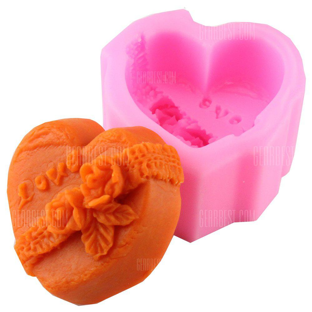 3D Love Heart DIY Fondant Cake Decorations Baking Tools Embossing Dies Chocolate Soap Liquid Mold Silicone Mold