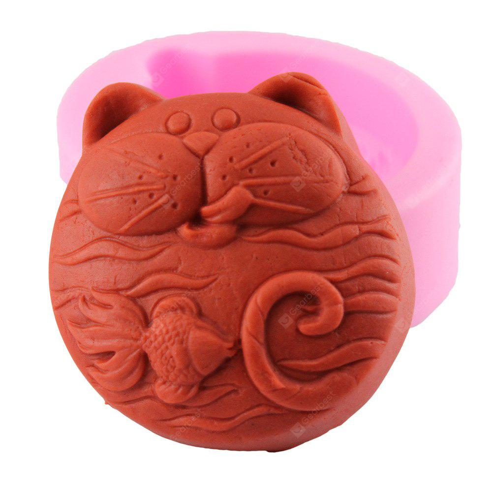 Cat Fish Craft Art Handmade Soap Mold Silicone Cake Mold DIY Fondant Chocolate Mold Cake Baking Tools
