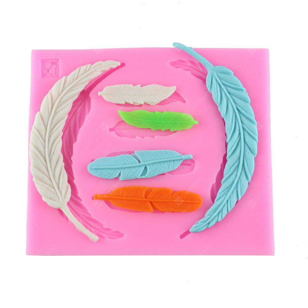 6 Sheet Feather Wing DIY Plastic Texture Mode Fondant Cake Sugar Craft Baking Decoration Tools