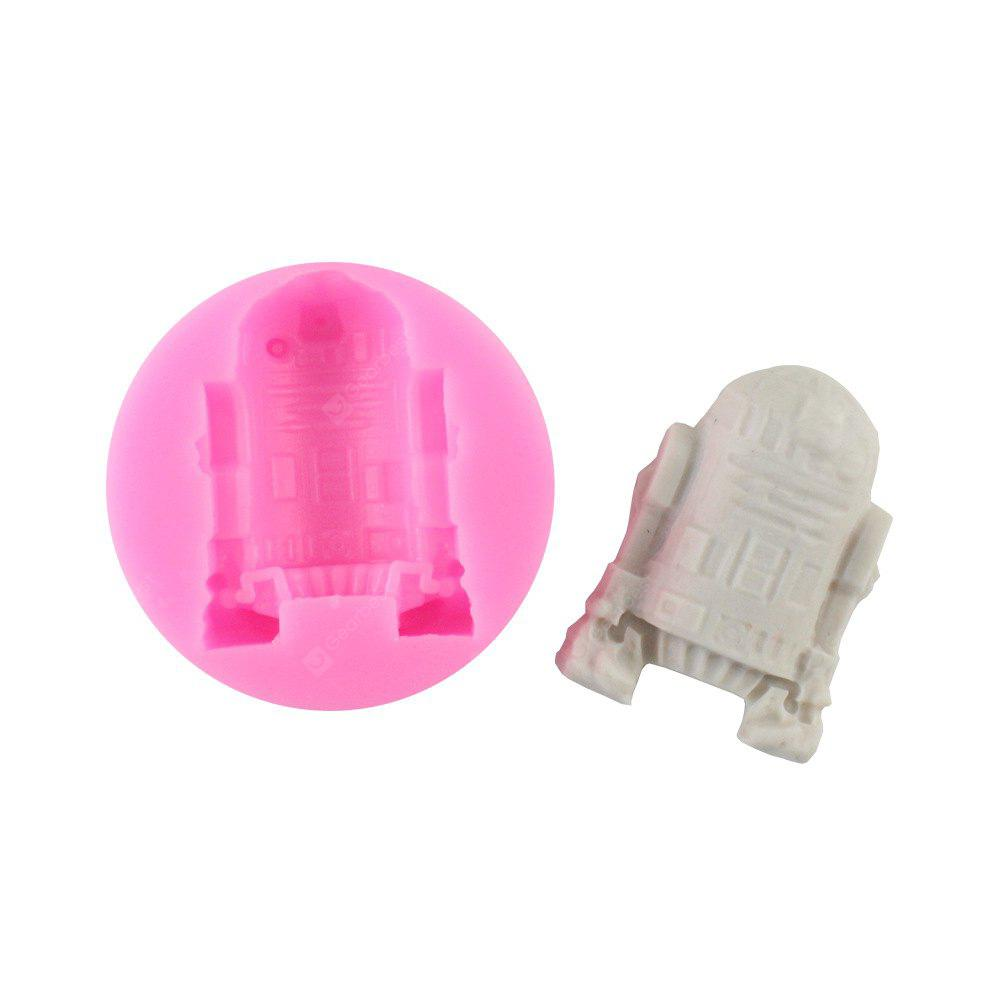 Fondant Chocolate Pastry Cake Decorating Baking Tools 3D Robot Silicone Mold