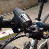 2256 Super Bright 200LM USB Ricaricabile per bici LED Front Light Power - NERO