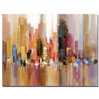 painting oil building abstract canvas wall room living pure decor handmade frame paintings unique disclaimer error tax protection report info