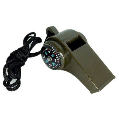 Military Multi-Function High Decibel Survival Whistle Compass Hiking Climbing Accessory