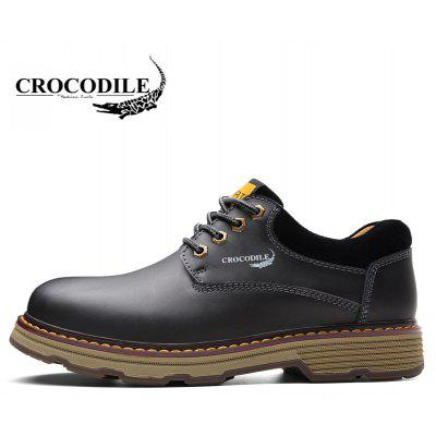 CROCODILE Tooling Loafers Male WFX00372055Mens Boots<br>CROCODILE Tooling Loafers Male WFX00372055<br><br>Available Size: 38-44<br>Closure Type: Lace-Up<br>Flat Type: Slingbacks<br>Gender: For Men<br>Heel Height Range: Med(1.75-2.75)<br>Insole Material: PU<br>Lining Material: Genuine Leather<br>Occasion: Casual<br>Outsole Material: Rubber<br>Package Contents: 1xshoes(pair)<br>Package size (L x W x H): 33.00 x 20.00 x 15.00 cm / 12.99 x 7.87 x 5.91 inches<br>Package weight: 0.8000 kg<br>Pattern Type: Patchwork<br>Season: Summer, Spring/Fall, Winter<br>Shoe Width: Wide(C/D/W)<br>Toe Shape: Round Toe<br>Toe Style: Closed Toe<br>Upper Material: Full Grain Leather