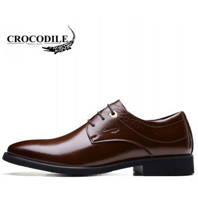 CROCODILE New Men Recreational Leather Shoes WFX00372061Formal Shoes<br>CROCODILE New Men Recreational Leather Shoes WFX00372061<br><br>Available Size: 38-43<br>Closure Type: Lace-Up<br>Embellishment: None<br>Gender: For Men<br>Insole Material: PU<br>Lining Material: Cotton Fabric<br>Occasion: Casual<br>Outsole Material: Rubber<br>Package Contents: 1xshoes(pair)<br>Pattern Type: Patchwork<br>Season: Summer, Winter, Spring/Fall<br>Shoe Width: Medium(B/M)<br>Toe Shape: Pointed Toe<br>Toe Style: Closed Toe<br>Upper Material: Cow Split<br>Weight: 1.9800kg