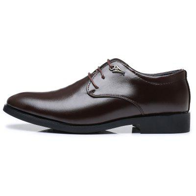 Mens Fashion Business Casual Lace Up Pointed Leather ShoesFormal Shoes<br>Mens Fashion Business Casual Lace Up Pointed Leather Shoes<br><br>Available Size: 37-44<br>Closure Type: Lace-Up<br>Embellishment: None<br>Gender: For Men<br>Occasion: Dress<br>Outsole Material: Rubber<br>Package Contents: 1 x pair of shoes<br>Pattern Type: Solid<br>Season: Summer, Winter, Spring/Fall<br>Toe Shape: Pointed Toe<br>Toe Style: Closed Toe<br>Upper Material: Full Grain Leather<br>Weight: 1.2000kg