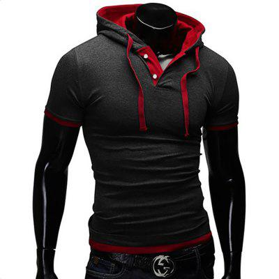 Mens Short-Sleeved Fashion Sling Hooded Short-Sleeved T-ShirtMens T-shirts<br>Mens Short-Sleeved Fashion Sling Hooded Short-Sleeved T-Shirt<br><br>Collar: Hooded<br>Material: Cotton, Cotton Blends<br>Package Contents: 1X T-shirts<br>Pattern Type: Solid<br>Sleeve Length: Short Sleeves<br>Style: Fashion<br>T-shirts: None<br>Weight: 0.2500kg
