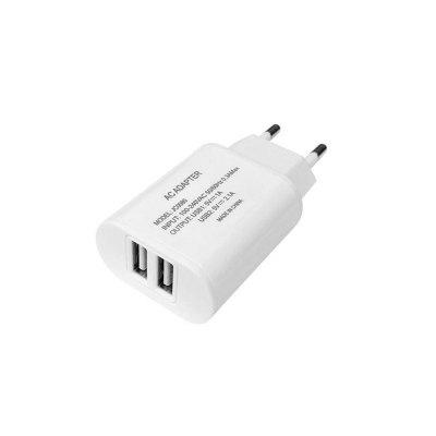2 USB Type-C Cable Charger Portable Travel Wall Charger Adapter EU Plug Phone ChargerChargers &amp; Cables<br>2 USB Type-C Cable Charger Portable Travel Wall Charger Adapter EU Plug Phone Charger<br><br>Accessories type: Cable, Power Adapter<br>Colors: White<br>Material: ABS, TPE<br>Package Contents: 1 x Wall charger adapter<br>Package size (L x W x H): 10.00 x 10.00 x 4.00 cm / 3.94 x 3.94 x 1.57 inches<br>Package weight: 0.1100 kg