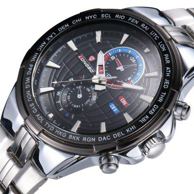 LONGBO 80226 1251 Fashion Trend with A Calendar Decorated with Three Small Dial Steel Band Waterproof Man Quartz WatchMens Watches<br>LONGBO 80226 1251 Fashion Trend with A Calendar Decorated with Three Small Dial Steel Band Waterproof Man Quartz Watch<br><br>Band material: Fine steel<br>Band size: 25.5 x 2.2cm<br>Brand: Longbo<br>Case material: Alloy<br>Clasp type: Folding clasp with safety<br>Dial size: 4.4 x 4.4 x 1.2cm<br>Display type: Analog<br>Movement type: Quartz watch<br>Package Contents: 1 x Watch, 1 x Box<br>Package size (L x W x H): 28.00 x 8.00 x 3.50 cm / 11.02 x 3.15 x 1.38 inches<br>Package weight: 0.1560 kg<br>Product size (L x W x H): 25.50 x 4.40 x 1.20 cm / 10.04 x 1.73 x 0.47 inches<br>Product weight: 0.1260 kg<br>Shape of the dial: Round<br>Watch mirror: Mineral glass<br>Watch style: Casual, Business, Fashion<br>Watches categories: Men<br>Water resistance: 30 meters<br>Wearable length: 25.5 - 29.5cm