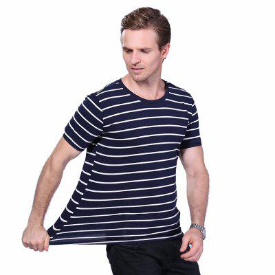 Men O Neck Striped Short Sleeve T ShirtMens T-shirts<br>Men O Neck Striped Short Sleeve T Shirt<br><br>Collar: Round Neck<br>Material: Cotton<br>Package Contents: 1 x T Shirt<br>Pattern Type: Striped<br>Sleeve Length: Short Sleeves<br>Style: Casual<br>Weight: 0.2000kg