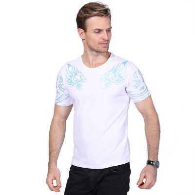 Fashion Dragon Print O Neck Short Sleeve T ShirtMens T-shirts<br>Fashion Dragon Print O Neck Short Sleeve T Shirt<br><br>Collar: Round Neck<br>Fabric Type: Broadcloth<br>Material: Cotton, Spandex<br>Package Contents: 1 x T Shirt<br>Pattern Type: Print<br>Sleeve Length: Short Sleeves<br>Style: Casual<br>Weight: 0.2100kg