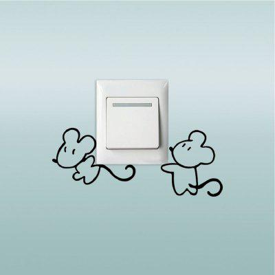 DSU Cute Mice Switch Sticker Creative Cartoon Animal Vinyl Wall Decal for Kids RoomWall Stickers<br>DSU Cute Mice Switch Sticker Creative Cartoon Animal Vinyl Wall Decal for Kids Room<br><br>Art Style: Plane Wall Stickers, Toilet Stickers<br>Artists: Others<br>Brand: DSU<br>Color Scheme: Black<br>Effect Size (L x W): 9.9 x 13.7 cm<br>Function: Light Switch Stickers, Decorative Wall Sticker<br>Layout Size (L x W): 9.9 x 13.7 cm<br>Material: Vinyl(PVC)<br>Package Contents: 1 x Wall Sticker<br>Package size (L x W x H): 12.00 x 15.00 x 1.00 cm / 4.72 x 5.91 x 0.39 inches<br>Package weight: 0.0300 kg<br>Product size (L x W x H): 9.90 x 13.70 x 0.01 cm / 3.9 x 5.39 x 0 inches<br>Product weight: 0.0200 kg<br>Quantity: 1<br>Subjects: Fashion,Letter,Cute,Cartoon,Famous,Game<br>Suitable Space: Living Room,Bedroom,Hotel,Kids Room,Entry,Kitchen,Pathway,Door,Corridor,Hallway,Boys Room,Game Room<br>Type: Plane Wall Sticker