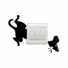 DSU Frightened Mouse Light Switch Wall Sticker coupons