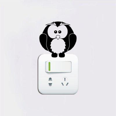 DSU  Cute Owl Light Switch Sticker Cartoon Bird Vinyl Wall stickers for Kids RoomWall Stickers<br>DSU  Cute Owl Light Switch Sticker Cartoon Bird Vinyl Wall stickers for Kids Room<br><br>Art Style: Plane Wall Stickers, Toilet Stickers<br>Artists: Others<br>Brand: DSU<br>Color Scheme: Black<br>Effect Size (L x W): 7 x 7 cm<br>Function: Light Switch Stickers, Decorative Wall Sticker<br>Layout Size (L x W): 7 x 7 cm<br>Material: Vinyl(PVC)<br>Package Contents: 1 x Wall Sticker<br>Package size (L x W x H): 10.00 x 10.00 x 1.00 cm / 3.94 x 3.94 x 0.39 inches<br>Package weight: 0.0200 kg<br>Product size (L x W x H): 7.00 x 7.00 x 0.01 cm / 2.76 x 2.76 x 0 inches<br>Product weight: 0.0100 kg<br>Quantity: 1<br>Subjects: Fashion,Letter,Cute,Cartoon,Famous,Game<br>Suitable Space: Living Room,Bedroom,Hotel,Kids Room,Entry,Kitchen,Pathway,Door,Corridor,Hallway,Boys Room,Game Room<br>Type: Plane Wall Sticker