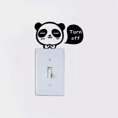 DSU  Cute Panda Light Switch Sticker Cartoon Animal Vinyl Wall Sticker for Kids RoomWall Stickers<br>DSU  Cute Panda Light Switch Sticker Cartoon Animal Vinyl Wall Sticker for Kids Room<br><br>Art Style: Plane Wall Stickers, Toilet Stickers<br>Artists: Others<br>Brand: DSU<br>Color Scheme: Black<br>Effect Size (L x W): 7.1 x 13 cm<br>Function: Light Switch Stickers, Decorative Wall Sticker<br>Layout Size (L x W): 7.1 x 13 cm<br>Material: Vinyl(PVC)<br>Package Contents: 1 x Wall Sticker<br>Package size (L x W x H): 10.00 x 15.00 x 1.00 cm / 3.94 x 5.91 x 0.39 inches<br>Package weight: 0.0300 kg<br>Product size (L x W x H): 7.10 x 13.00 x 0.01 cm / 2.8 x 5.12 x 0 inches<br>Product weight: 0.0200 kg<br>Quantity: 1<br>Subjects: Fashion,Letter,Cute,Cartoon,Famous,Game<br>Suitable Space: Living Room,Bedroom,Hotel,Kids Room,Entry,Kitchen,Pathway,Door,Corridor,Hallway,Boys Room,Game Room<br>Type: Plane Wall Sticker