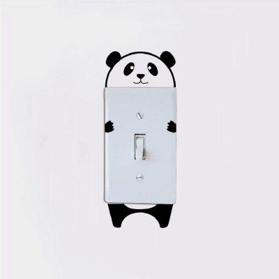 DSU Cute Panda Switch Sticker Cartoon Animal Vinyl Wall Sticker for Kids Room BedroomWall Stickers<br>DSU Cute Panda Switch Sticker Cartoon Animal Vinyl Wall Sticker for Kids Room Bedroom<br><br>Art Style: Plane Wall Stickers, Toilet Stickers<br>Artists: Others<br>Brand: DSU<br>Color Scheme: Black<br>Effect Size (L x W): 10.2 x 8.6 cm<br>Function: Light Switch Stickers, Decorative Wall Sticker<br>Layout Size (L x W): 10.2 x 8.6 cm<br>Material: Vinyl(PVC)<br>Package Contents: 1 x Wall Sticker<br>Package size (L x W x H): 13.00 x 10.00 x 1.00 cm / 5.12 x 3.94 x 0.39 inches<br>Package weight: 0.0300 kg<br>Product size (L x W x H): 10.20 x 8.60 x 0.01 cm / 4.02 x 3.39 x 0 inches<br>Product weight: 0.0200 kg<br>Quantity: 1<br>Subjects: Fashion,Letter,Cute,Cartoon,Famous,Game<br>Suitable Space: Living Room,Bedroom,Hotel,Kids Room,Entry,Kitchen,Pathway,Door,Corridor,Hallway,Boys Room,Game Room<br>Type: Plane Wall Sticker