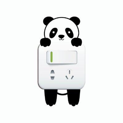 Buy DSU Cute Panda vinyl Light Switch Sticker Cartoon Animal Wall Stickers for Kids Room, BLACK, Home & Garden, Home Decors, Wall Art, Wall Stickers for $5.98 in GearBest store