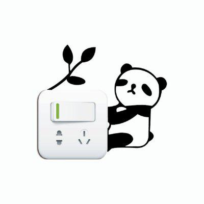 DSU  Lovely Panda Light Switch Sticker Funny Cartoon Animal Vinyl Wall DecorWall Stickers<br>DSU  Lovely Panda Light Switch Sticker Funny Cartoon Animal Vinyl Wall Decor<br><br>Art Style: Plane Wall Stickers, Toilet Stickers<br>Artists: Others<br>Brand: DSU<br>Color Scheme: Black<br>Effect Size (L x W): 10 x 12.5 cm<br>Function: Light Switch Stickers, Decorative Wall Sticker<br>Layout Size (L x W): 10 x 12.5 cm<br>Material: Vinyl(PVC)<br>Package Contents: 1 x Wall Sticker<br>Package size (L x W x H): 12.00 x 14.00 x 1.00 cm / 4.72 x 5.51 x 0.39 inches<br>Package weight: 0.0300 kg<br>Product size (L x W x H): 10.00 x 12.50 x 0.01 cm / 3.94 x 4.92 x 0 inches<br>Product weight: 0.0200 kg<br>Quantity: 1<br>Subjects: Fashion,Letter,Cute,Cartoon,Famous,Game<br>Suitable Space: Living Room,Bedroom,Hotel,Kids Room,Entry,Kitchen,Pathway,Door,Corridor,Hallway,Boys Room,Game Room<br>Type: Plane Wall Sticker