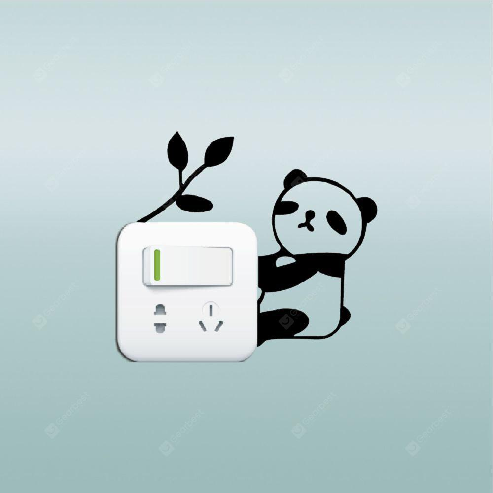 DSU Lovely Panda Light Switch Sticker Funny Cartoon Animal Vinyl Wall Decor