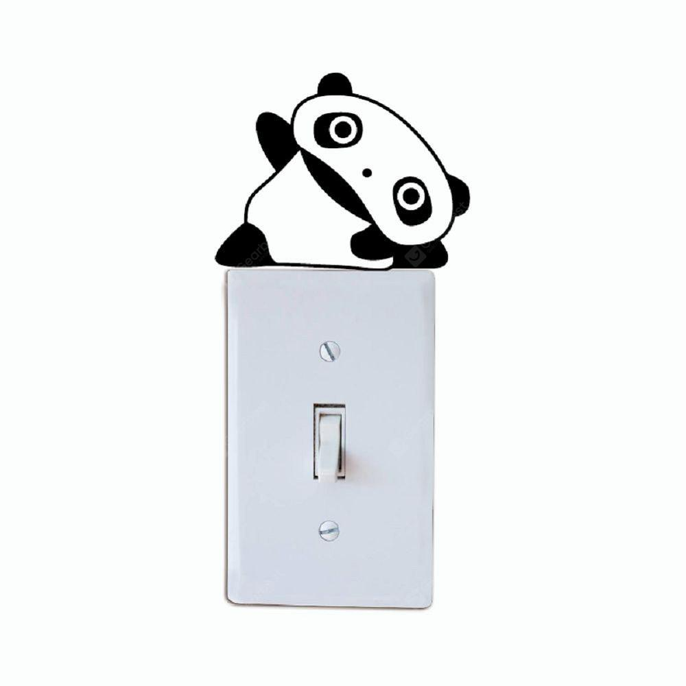 DSU Lovely Panda Light Switch Sticker Funny Cartoon Vinyl Animal Wall Decor