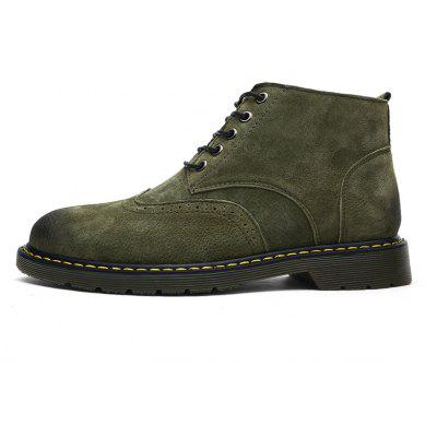 """Mens Casual  Leather Soft Cowhide Retro Martin BootsMens Boots<br>Mens Casual  Leather Soft Cowhide Retro Martin Boots<br><br>Boot Height: Ankle<br>Boot Type: Fashion Boots<br>Closure Type: Lace-Up<br>Embellishment: None<br>Gender: For Men<br>Heel Hight: Flat(0-0.5"""")<br>Heel Type: Low Heel<br>Insole Material: PU<br>Lining Material: Synthetic<br>Outsole Material: Rubber<br>Package Contents: 1 x Shoes(pair)<br>Pattern Type: Solid<br>Season: Winter, Spring/Fall<br>Shoe Width: Medium(B/M)<br>Toe Shape: Round Toe<br>Upper Material: Pigskin<br>Weight: 1.3824kg"""
