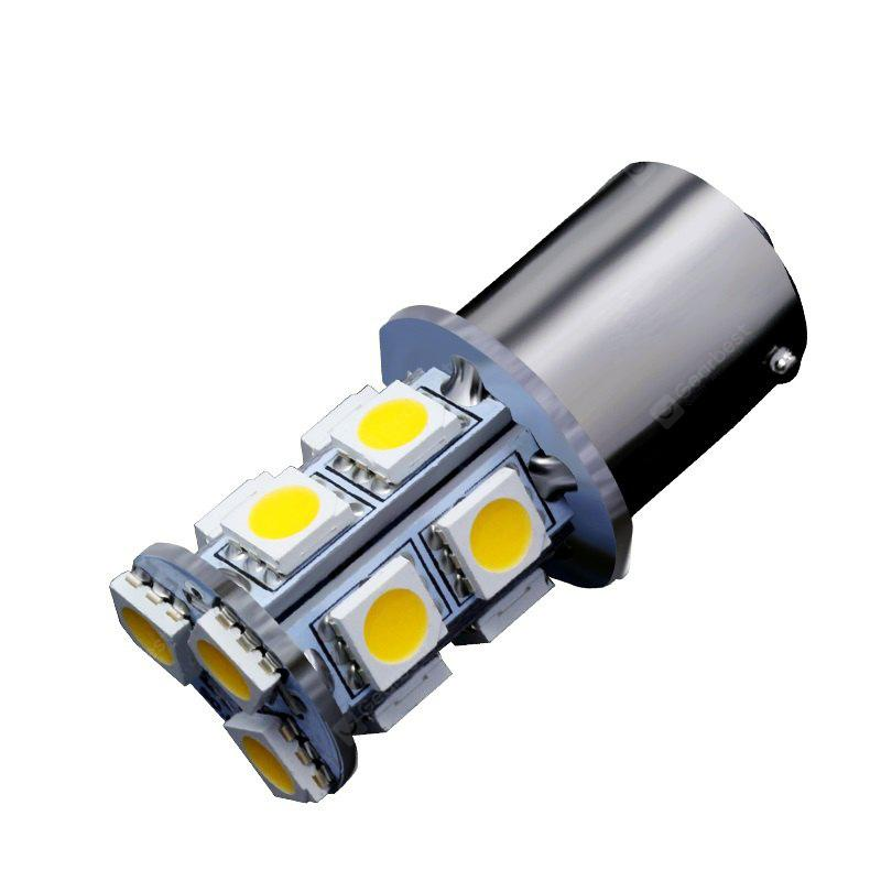 10PCS Warm White 13SMD LED Car Trailer 1156 BA15S 5050 Light Bulbs 1141 7503 DC5
