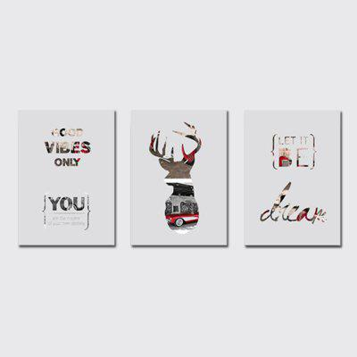 QiaoJiaHuaYuan No Frame Canvas Living Room Bedroom Background Deer Decoration Hang Print