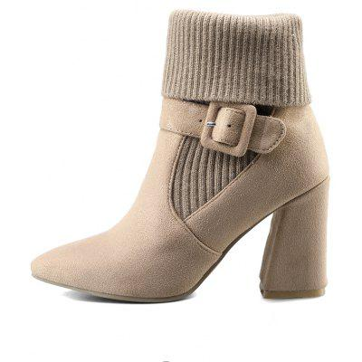 Womens Boots Pointed Toe Pendant Decoration Elegant Chic ShoesWomens Boots<br>Womens Boots Pointed Toe Pendant Decoration Elegant Chic Shoes<br><br>Boot Height: Mid-Calf<br>Boot Tube Height: 18<br>Boot Type: Fashion Boots<br>Closure Type: Slip-On<br>Embellishment: Buckle<br>Gender: For Women<br>Heel Height: 8.5<br>Heel Height Range: High(3-3.99)<br>Heel Type: Chunky Heel<br>Package Contents: 1 x Shoes(pair)<br>Pattern Type: Solid<br>Season: Spring/Fall, Winter<br>Toe Shape: Pointed Toe<br>Upper Material: Flock<br>Weight: 1.6588kg