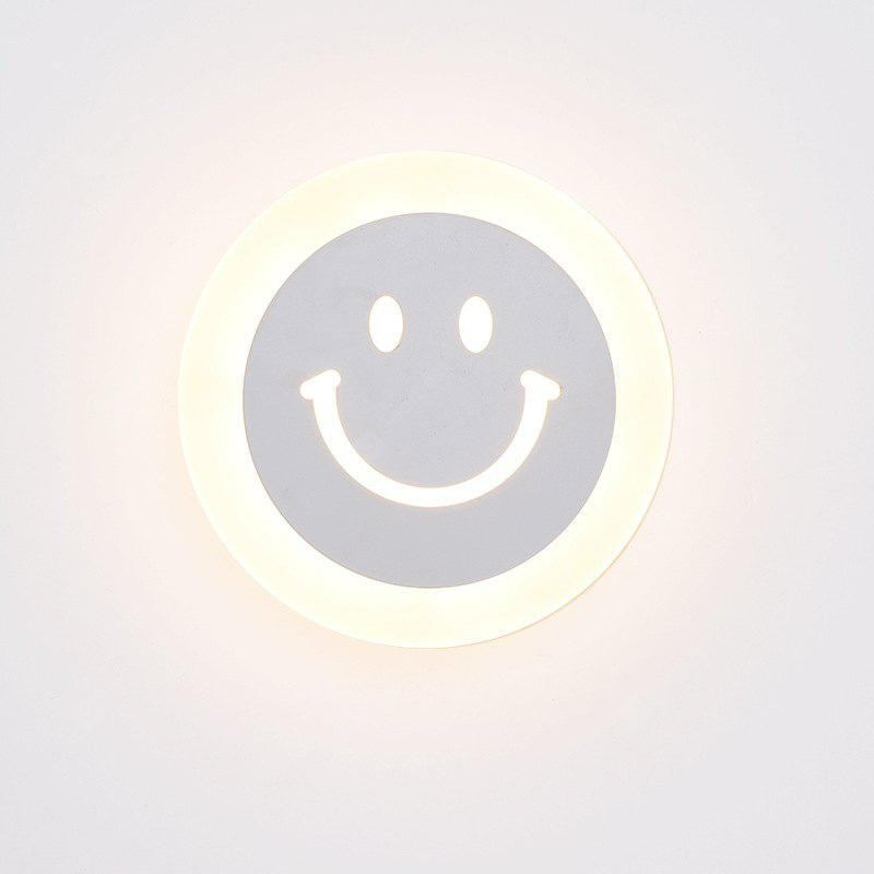 12W 20cm Modern Indoor Decor Cartoon LED Wall Lamp Smile Face Acrylic Wall Light For Bedroom Corridor