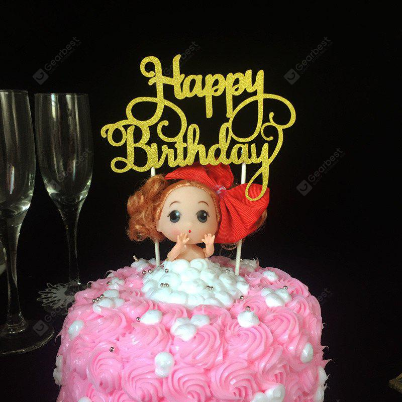 Cake Topper Simple Happy Birthday Design Decorative Party