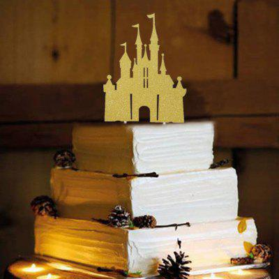 Cake Topper Creative Romantic Castle Shaped Design Decorative Party