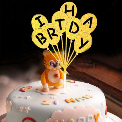 Cake Topper Novel Balloons Design Letters Pattern Design Decorative