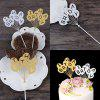 Cake Topper Novel Balloons Design Letters Pattern Design Decorative - GOLDEN