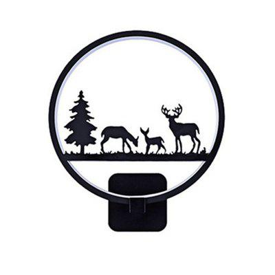 12W LED Modern Three Deer Wall Light for Living Room Bedroom Corridor Lighting Decorative Lamp