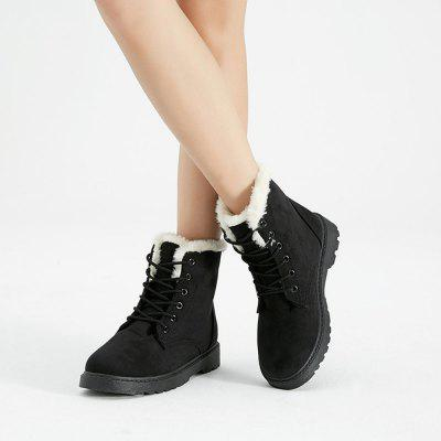 Women Fashion Outdoors Warm Snow BootsWomens Boots<br>Women Fashion Outdoors Warm Snow Boots<br><br>Boot Height: Ankle<br>Boot Type: Snow Boots<br>Closure Type: Lace-Up<br>Gender: For Women<br>Heel Height Range: Low(0.75-1.5)<br>Heel Type: Wedge Heel<br>Insole Material: PU<br>Lining Material: Plush<br>Outsole Material: Plastic<br>Package Contents: 1  x  Shoes(pair)<br>Pattern Type: Solid<br>Platform Height: 2<br>Season: Winter<br>Shoe Width: Medium(B/M)<br>Toe Shape: Round Toe<br>Upper Material: Flock<br>Weight: 1.1151kg