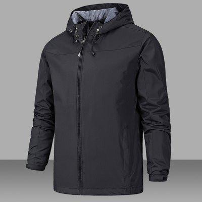 Mens Casual Windbreaker JacketMens Jackets &amp; Coats<br>Mens Casual Windbreaker Jacket<br><br>Closure Type: Zipper<br>Clothes Type: Trench<br>Collar: Hooded<br>Color Style: Solid<br>Colors: Black,Red,Blue,Khaki,Army green,Purplish Blue<br>Detachable Part: None<br>Hooded: Yes<br>Materials: Polyester<br>Package Content: 1 X Jacket<br>Package size (L x W x H): 1.00 x 1.00 x 1.00 cm / 0.39 x 0.39 x 0.39 inches<br>Package weight: 0.5000 kg<br>Shirt Length: Regular<br>Size1: S,M,L,XL,2XL,3XL<br>Sleeve Style: Regular<br>Style: Active<br>Thickness: Thin<br>Type: Slim