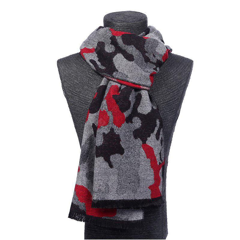 The new Korean winter classic men brushed color camouflage scarf