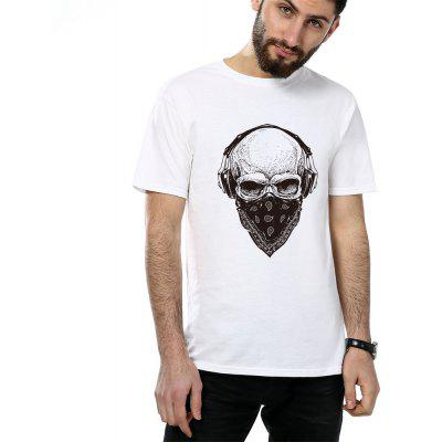Mens Cotton Short Sleeve Tees Skull Musical T-shirtsMens T-shirts<br>Mens Cotton Short Sleeve Tees Skull Musical T-shirts<br><br>Collar: Round Neck<br>Fabric Type: Broadcloth<br>Material: Cotton<br>Package Contents: 1XT-shirts<br>Pattern Type: Skulls<br>Sleeve Length: Short<br>Style: Punk<br>Weight: 0.1700kg