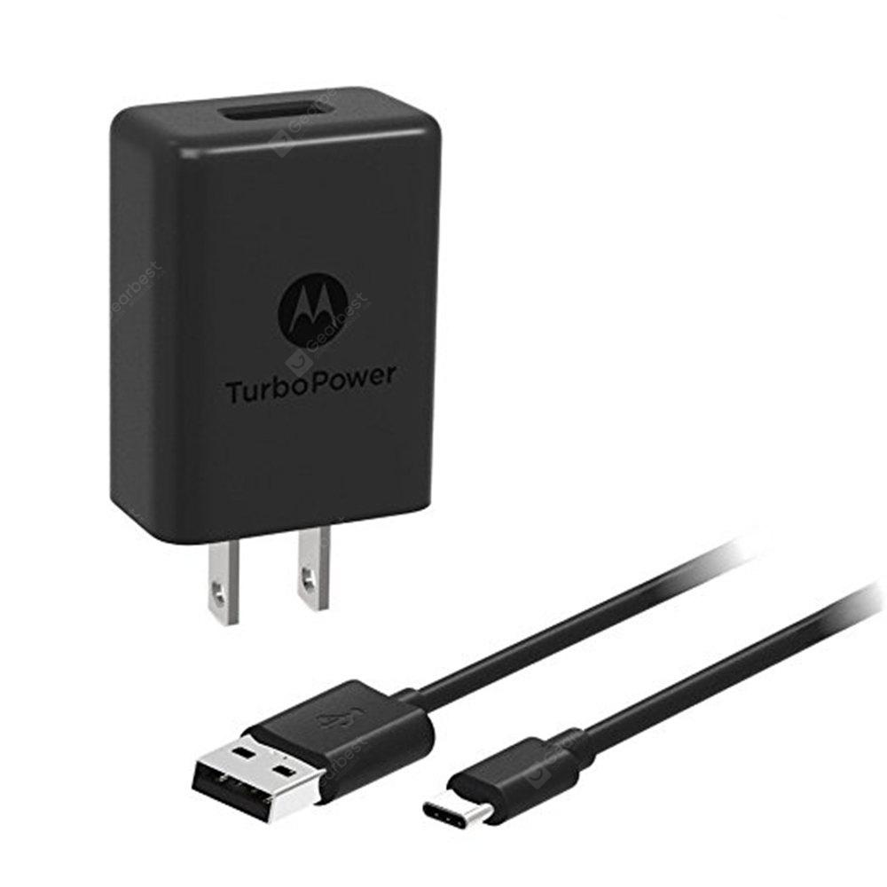 For Motorola TurboPower 15 QC3.0 Wall Charger with USB-C Data / Charging Cable