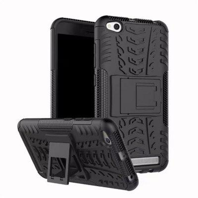 per Xiaomi Redmi 5A Cover Case Hybrid Rugged Heavy Duty Hard con Cavalletto
