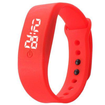 Unisex Men's Women's Rubber LED Watch Date Sports Bracelet Digital Wrist